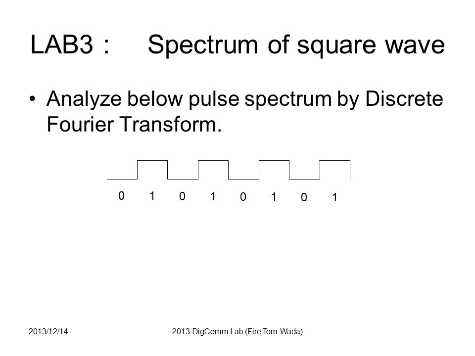 LAB3: Spectrum of square wave