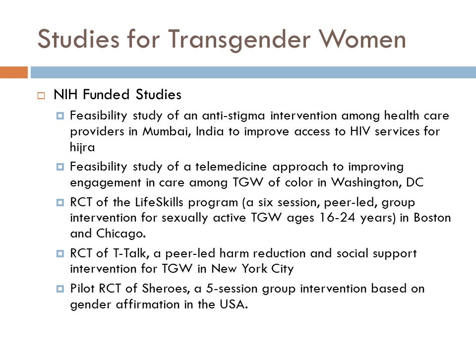 Studies for Transgender Women