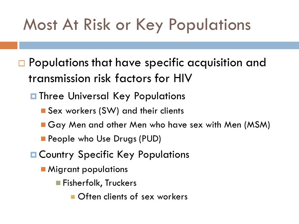Most At Risk or Key Populations