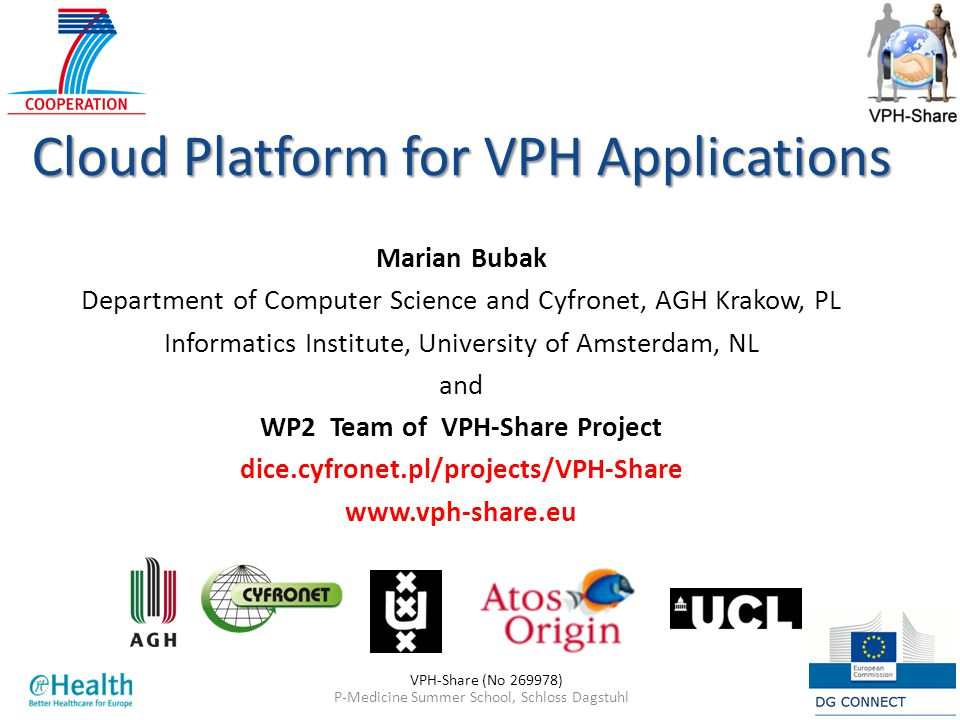 WP2 Team of VPH-Share Project dice.cyfronet.pl/projects/VPH-Share