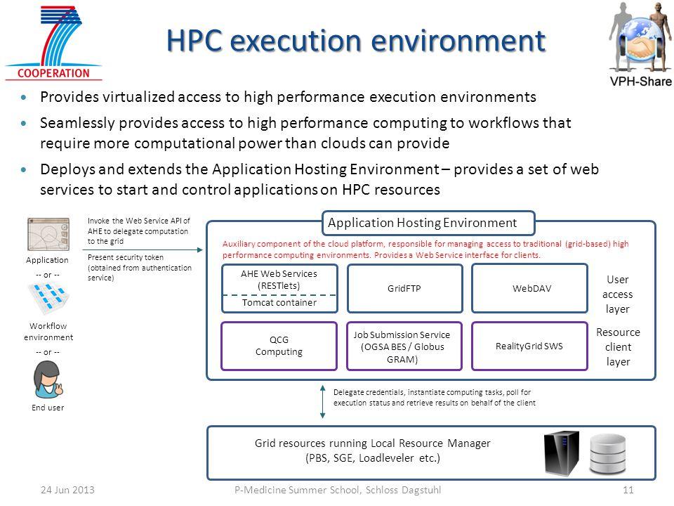 HPC execution environment