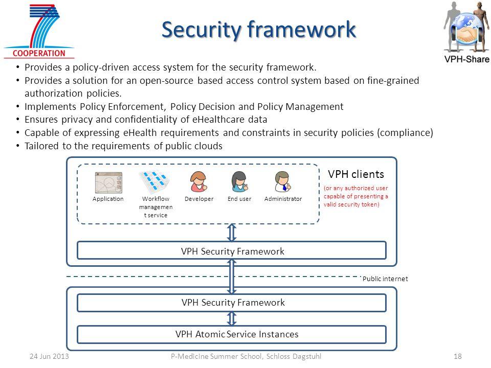 Security framework VPH clients