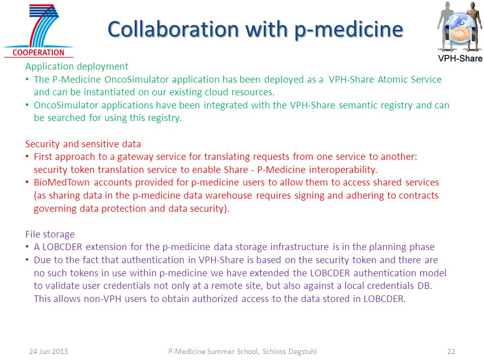 Collaboration with p-medicine