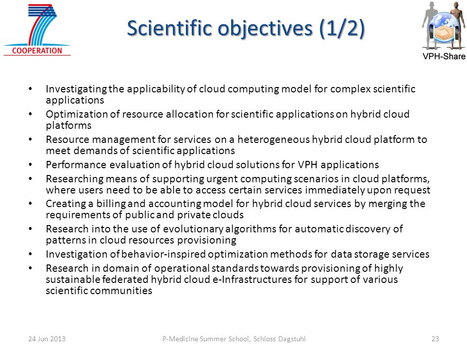 Scientific objectives (1/2)