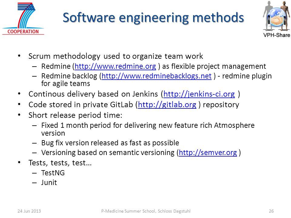 Software engineering methods
