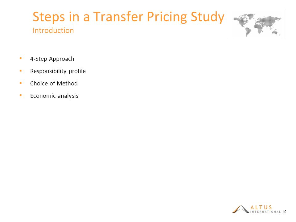 Steps in a Transfer Pricing Study Introduction