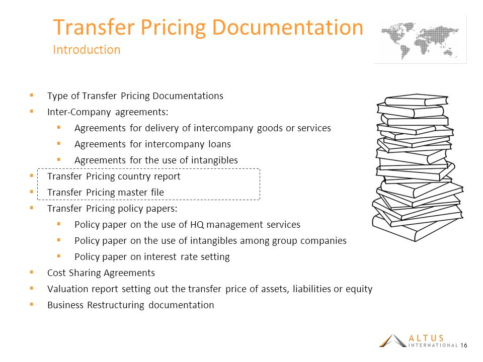 Transfer Pricing Documentation Introduction