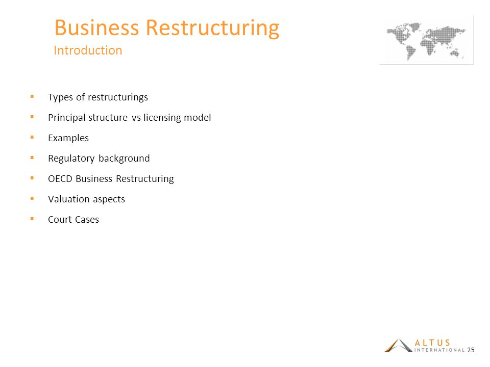 Business Restructuring Introduction