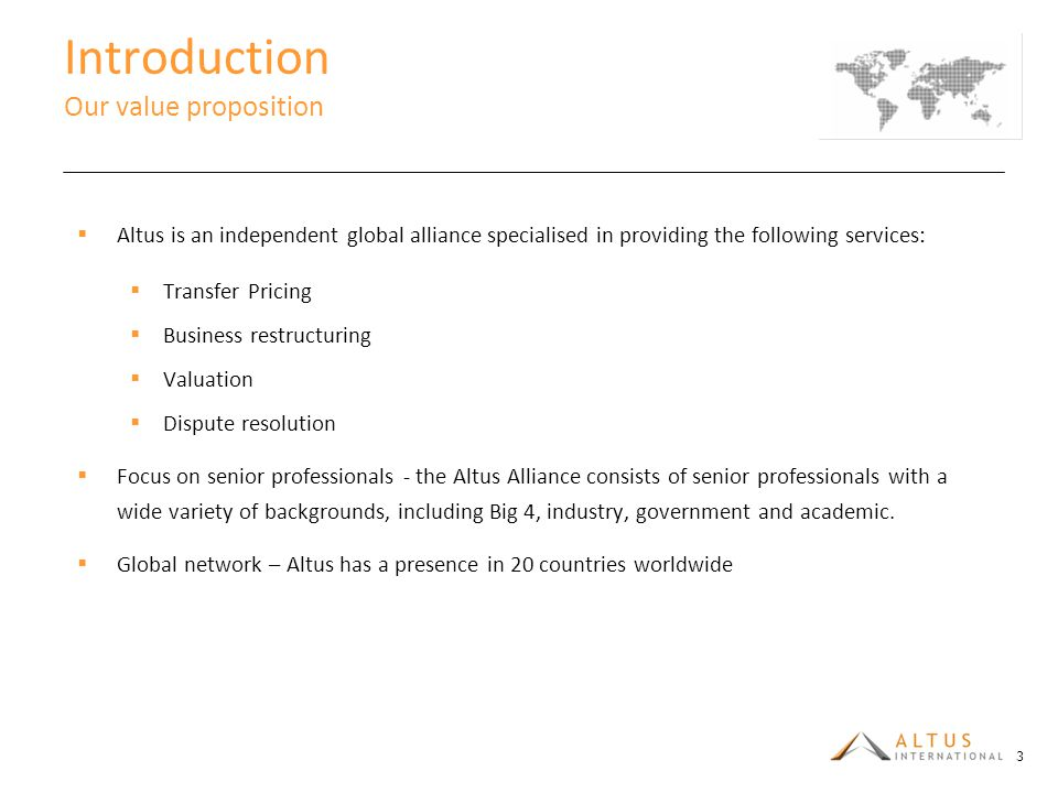 Introduction Our value proposition