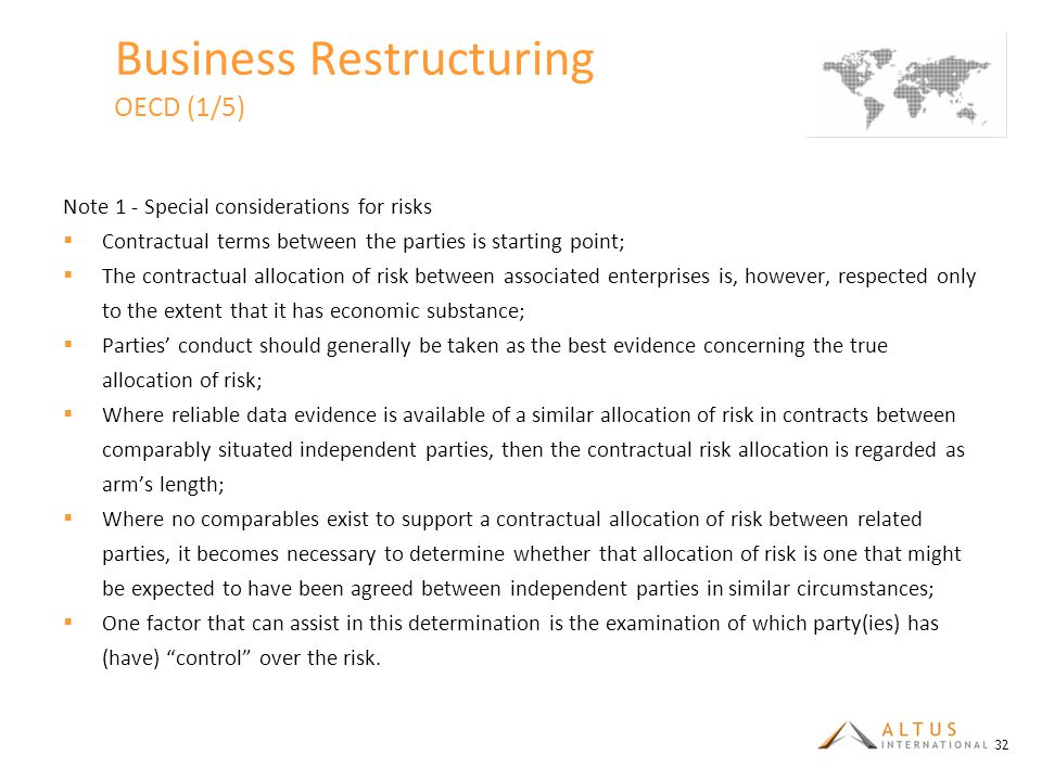 Business Restructuring OECD (1/5)