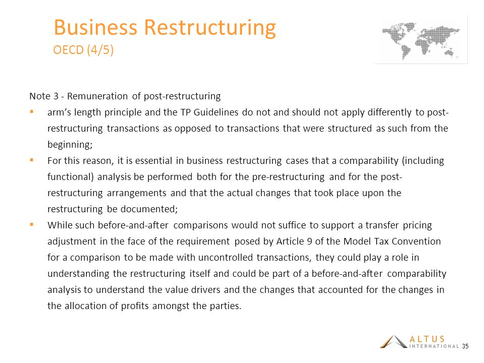 Business Restructuring OECD (4/5)