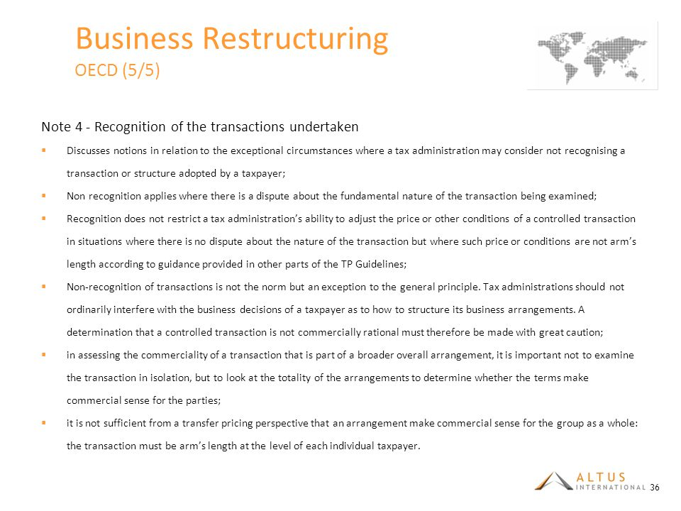 Business Restructuring OECD (5/5)