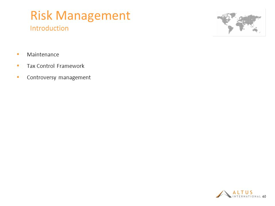 Risk Management Introduction