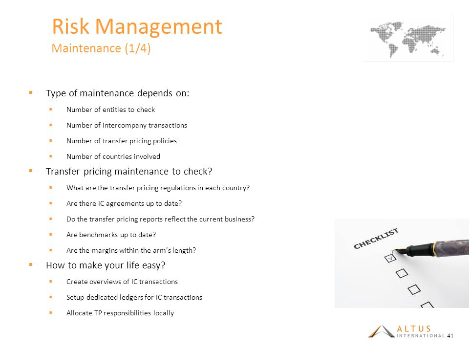 Risk Management Maintenance (1/4)