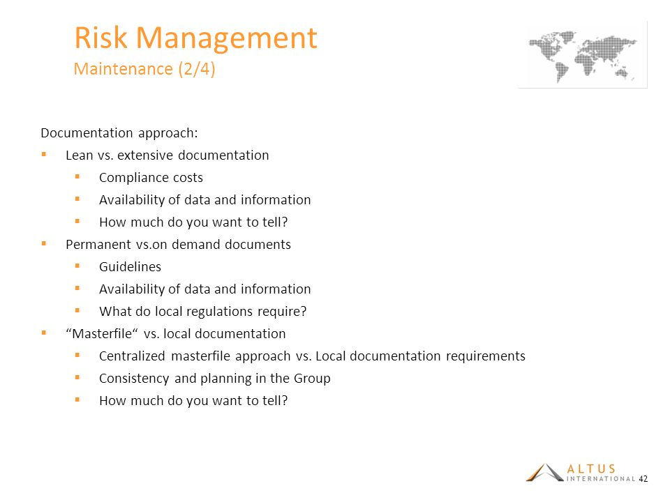 Risk Management Maintenance (2/4)