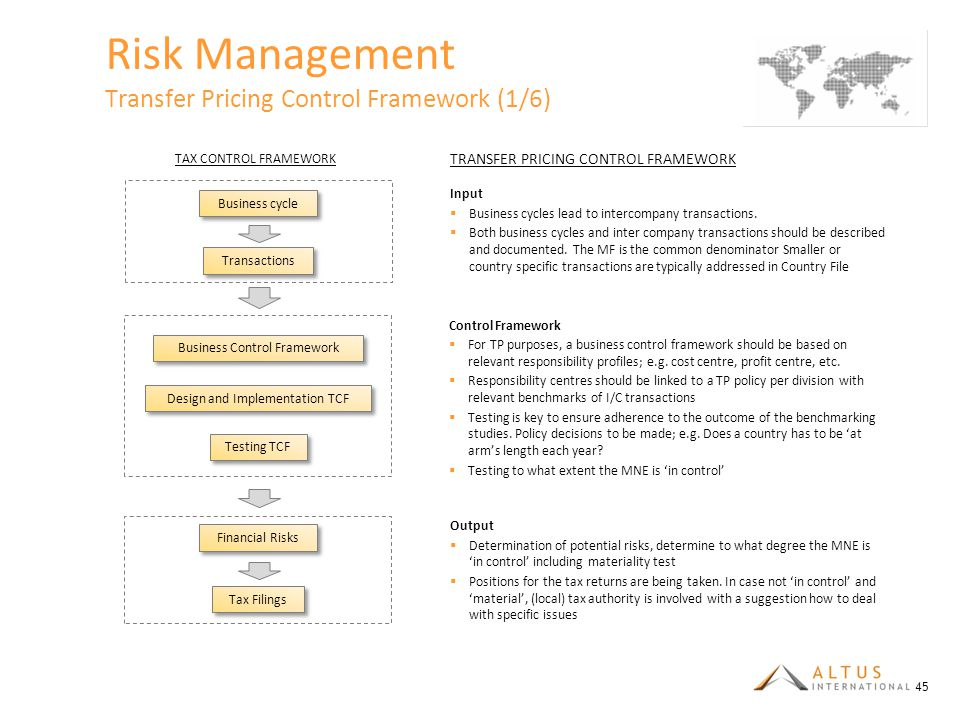 Risk Management Transfer Pricing Control Framework (1/6)