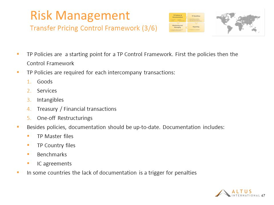 Risk Management Transfer Pricing Control Framework (3/6)