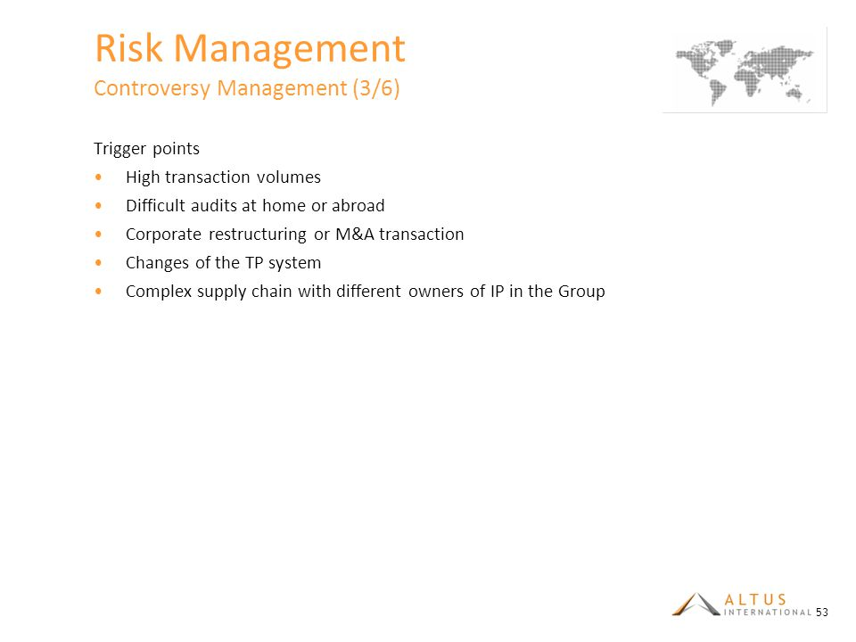 Risk Management Controversy Management (3/6)