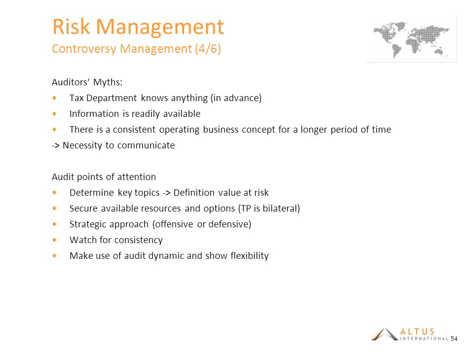 Risk Management Controversy Management (4/6)