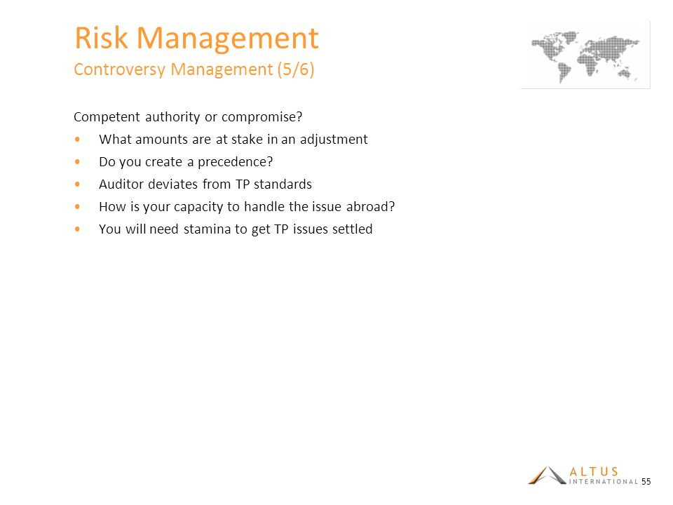 Risk Management Controversy Management (5/6)