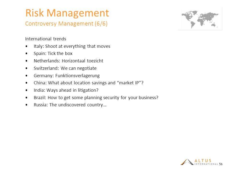 Risk Management Controversy Management (6/6)