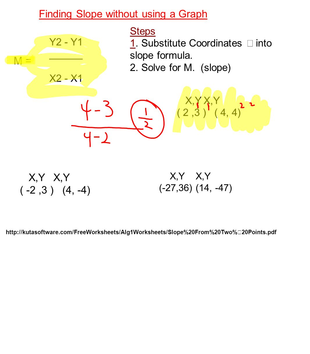 Slope Between Two Points 26 Finding Unit 2 Inequality Quiz 2( 3n + 7)