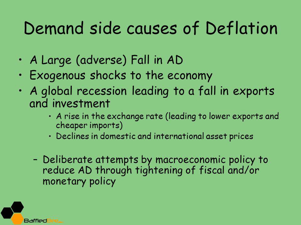 Demand side causes of Deflation