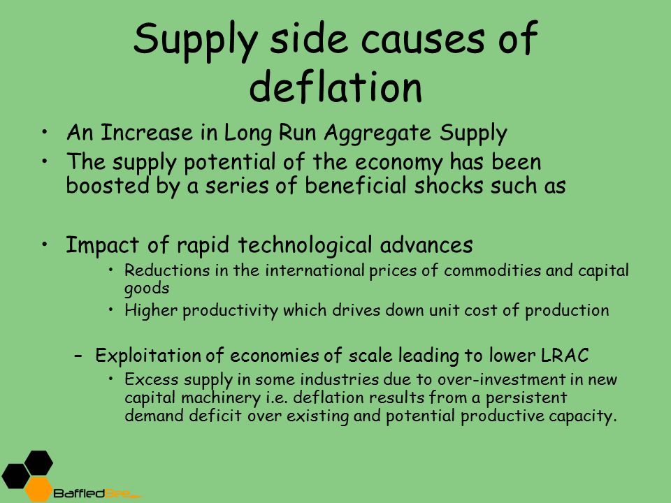 Supply side causes of deflation