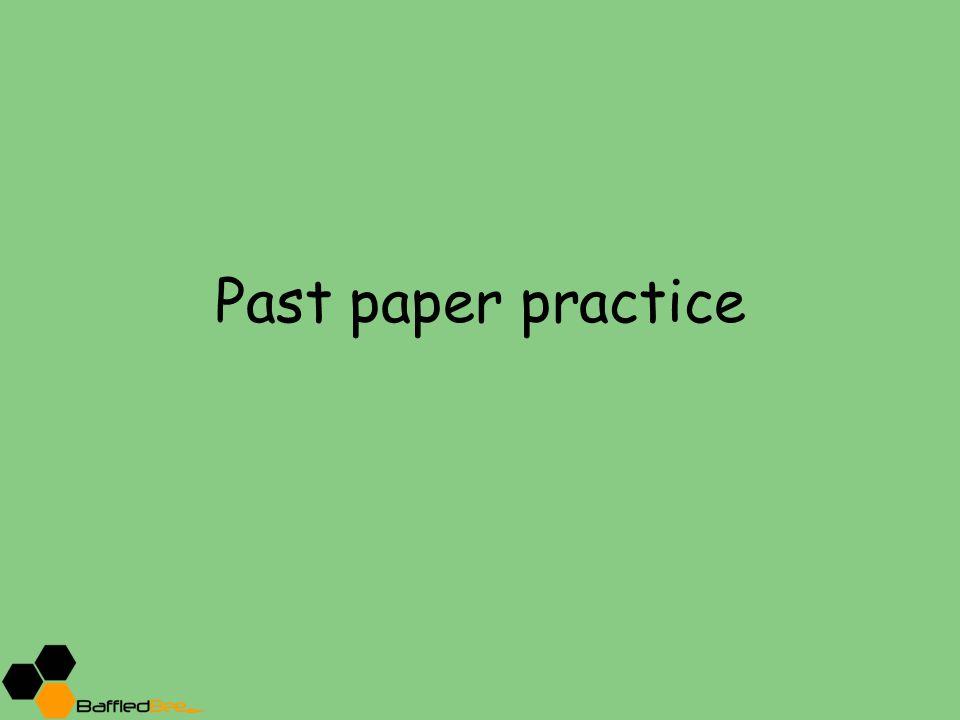 Past paper practice