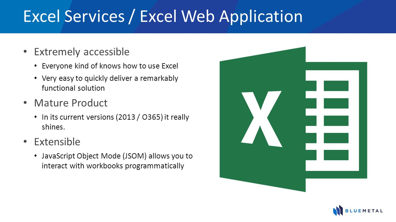 Excel Services / Excel Web Application