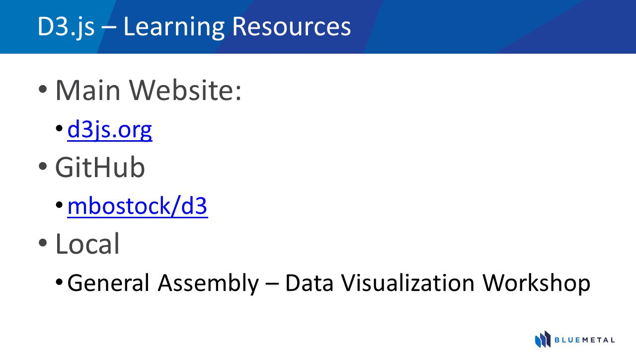 D3.js – Learning Resources