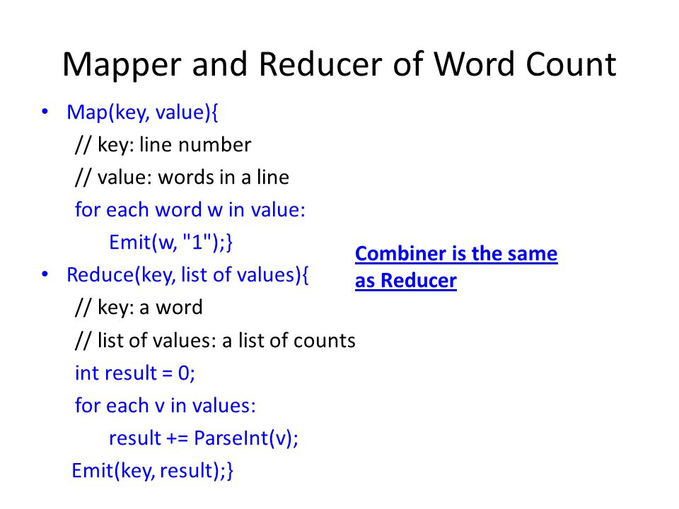 Mapper and Reducer of Word Count