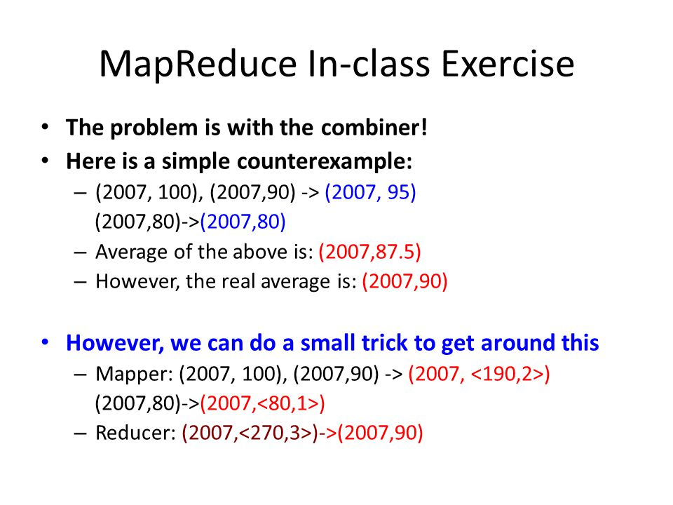 MapReduce In-class Exercise