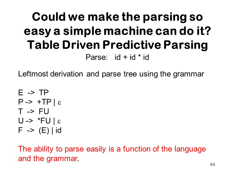 Could we make the parsing so easy a simple machine can do it