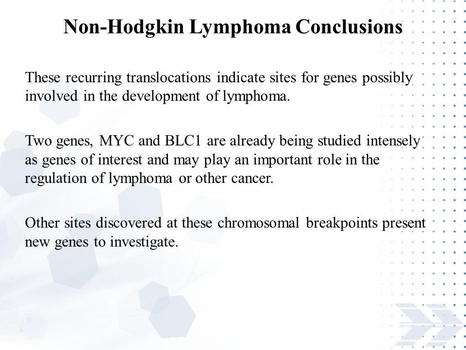 Non-Hodgkin Lymphoma Conclusions