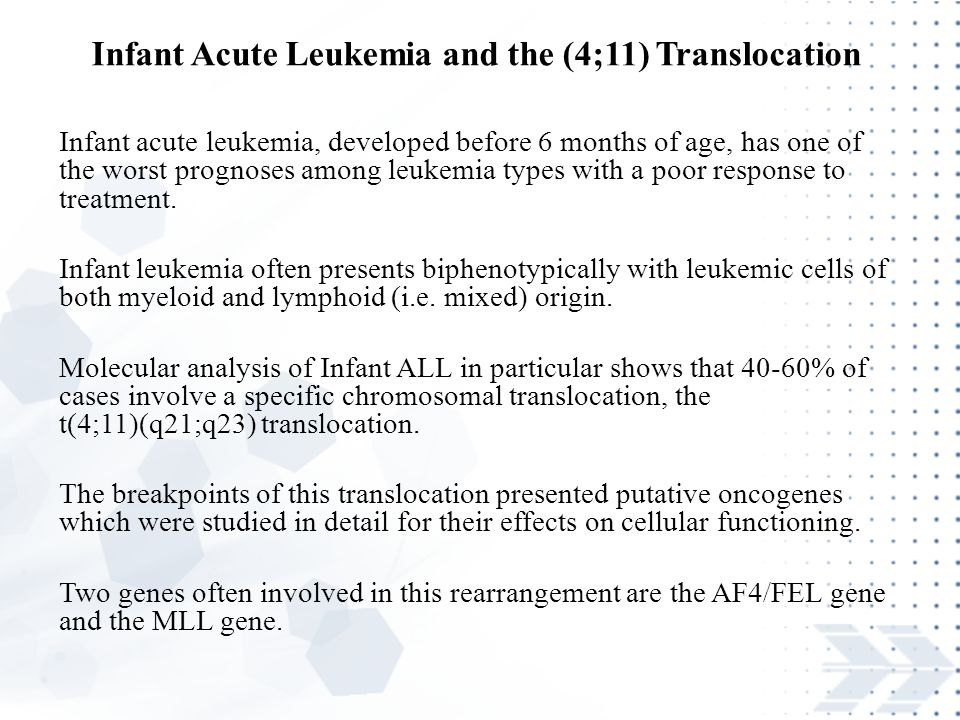 Infant Acute Leukemia and the (4;11) Translocation