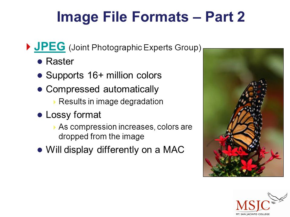 Image File Formats – Part 2