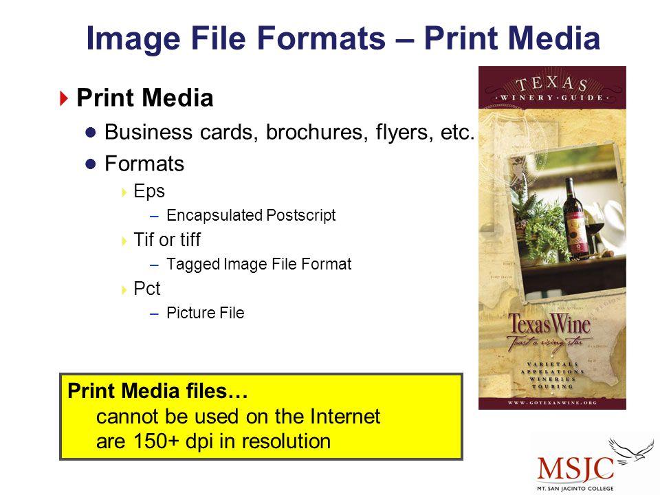 Image File Formats – Print Media