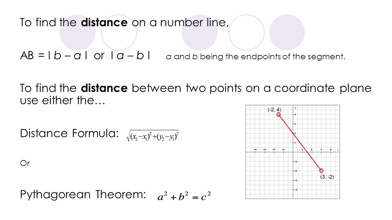 To find the distance on a number line,