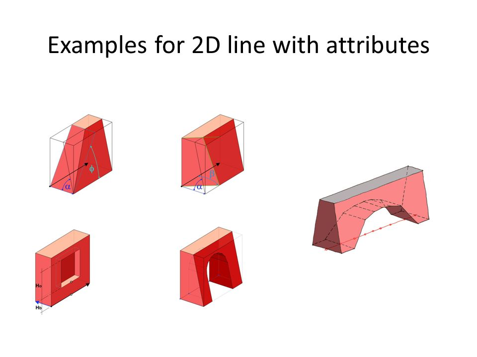 Examples for 2D line with attributes