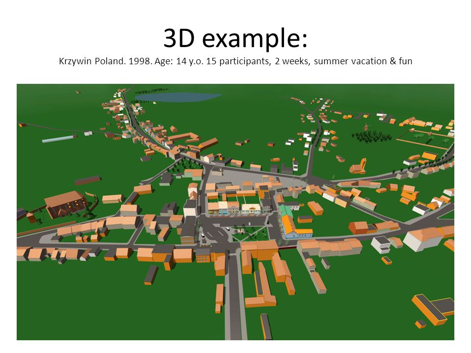 3D example: Krzywin Poland. 1998. Age: 14 y. o