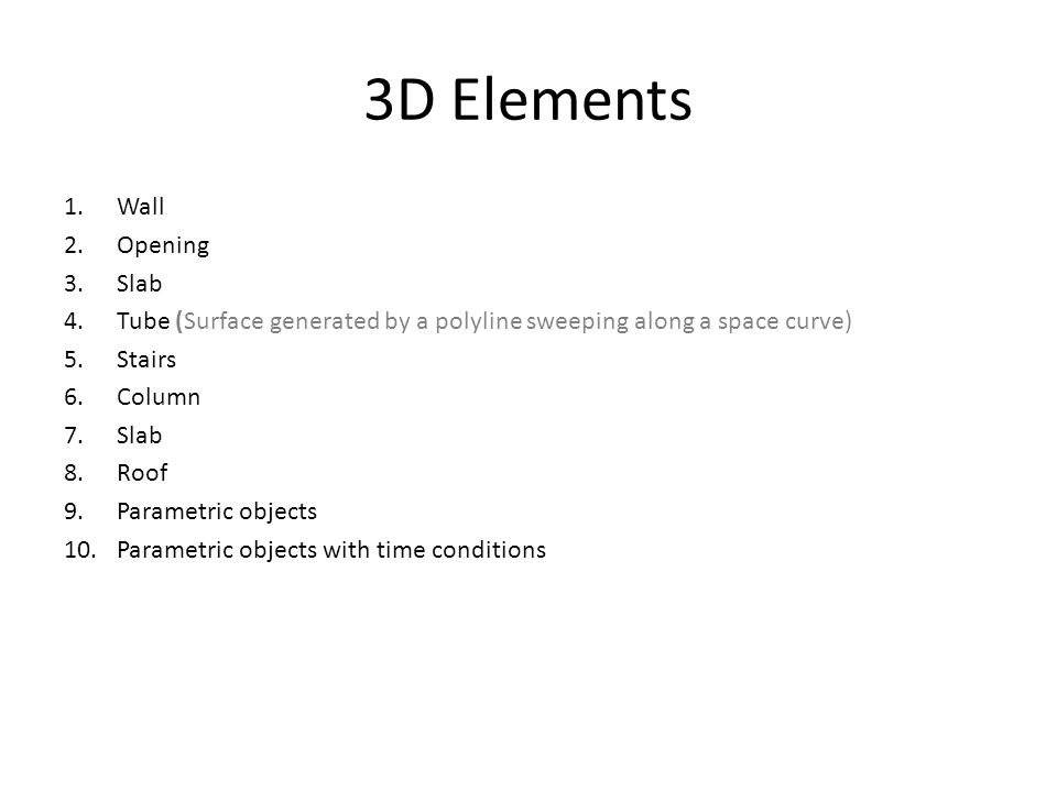 3D Elements Wall Opening Slab