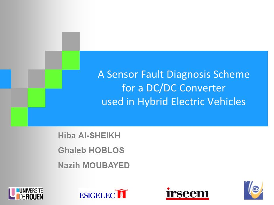 A Sensor Fault Diagnosis Scheme for a DC/DC Converter used in Hybrid Electric Vehicles