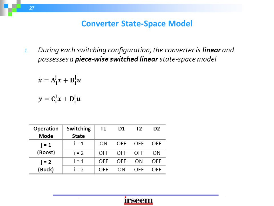 Converter State-Space Model