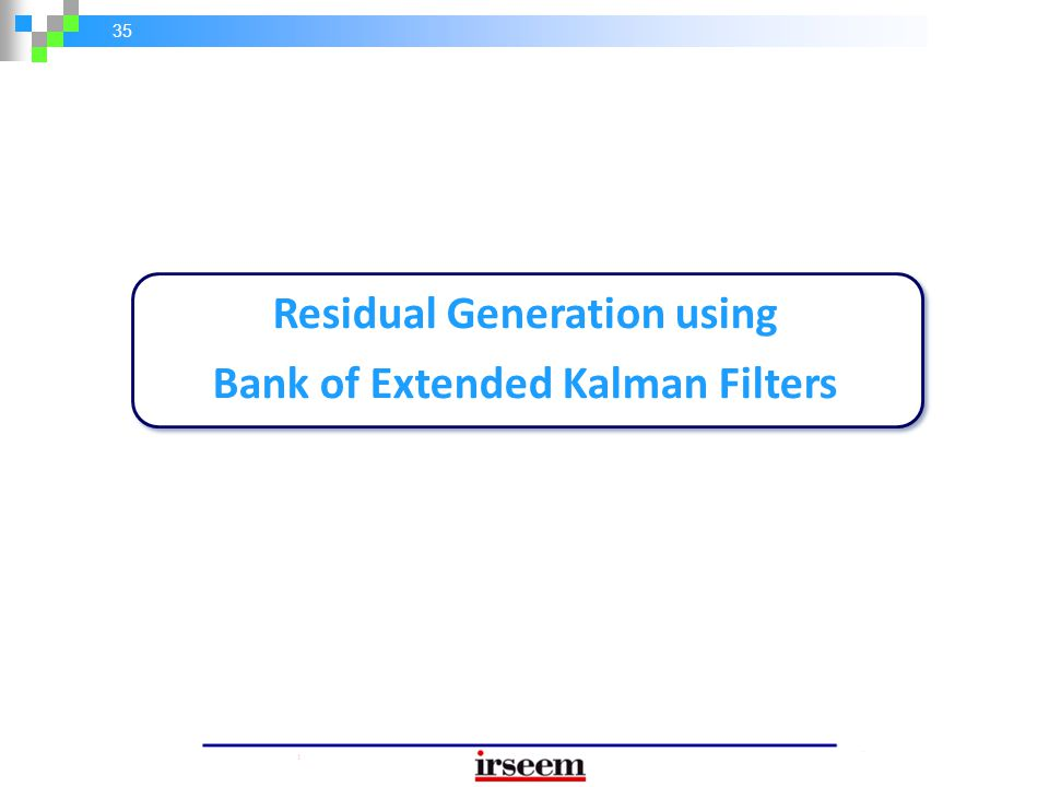 Residual Generation using Bank of Extended Kalman Filters