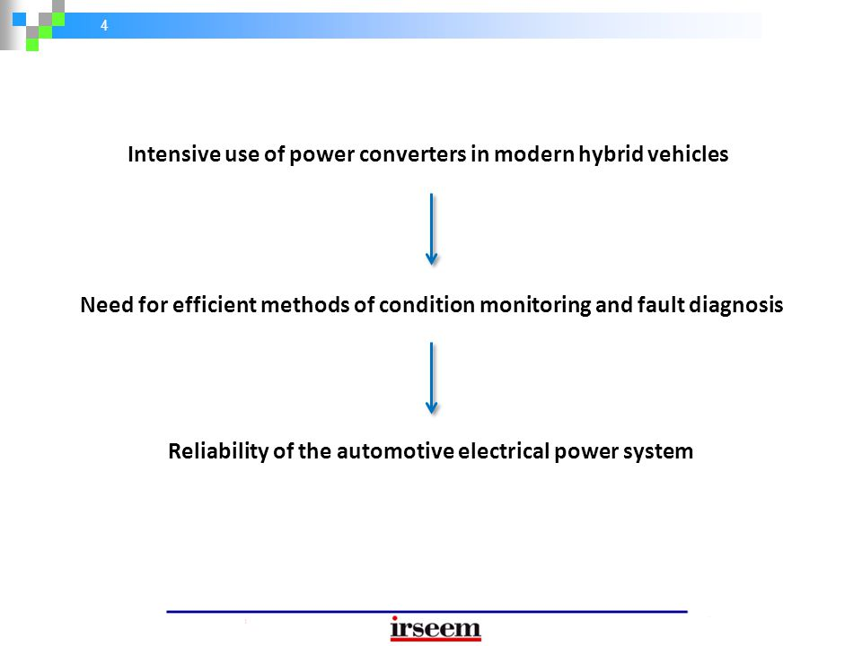 Intensive use of power converters in modern hybrid vehicles
