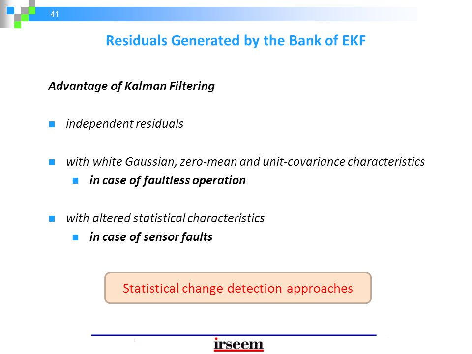 Residuals Generated by the Bank of EKF