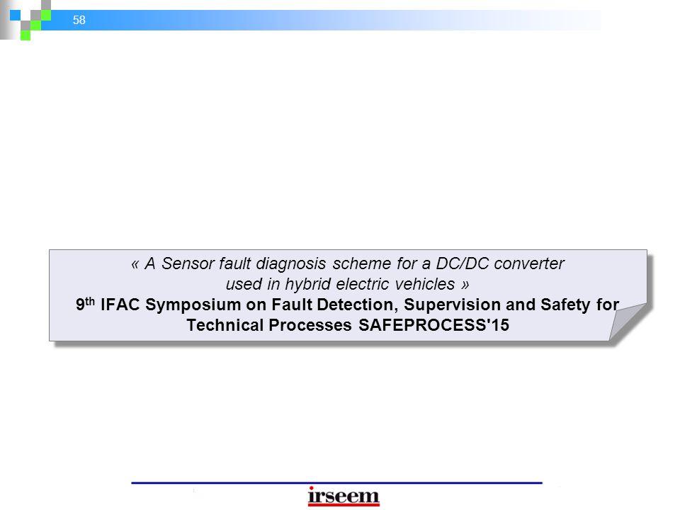 « A Sensor fault diagnosis scheme for a DC/DC converter