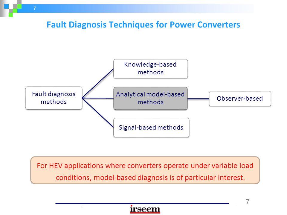Fault Diagnosis Techniques for Power Converters