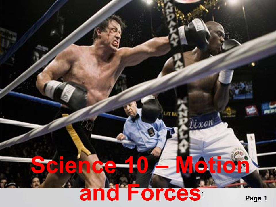 Science 10 – Motion and Forces